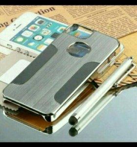 Чехол и стекло на айфон 5с
