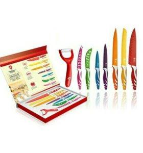 Набор из 8 ножей с антибактериальным покрытием
