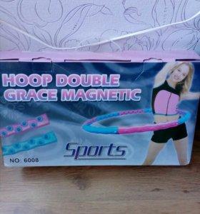 Массажный обруч хулахуп Hoop Double Grace Magnetic
