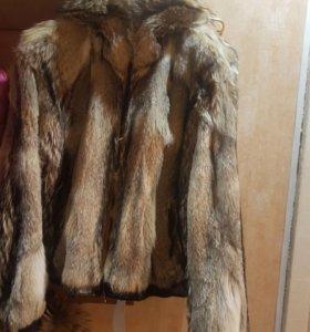 Мужская куртка из меха волка