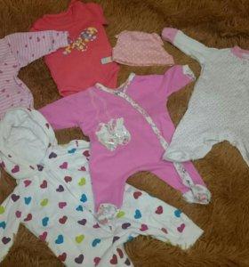 Вещи на новорожденую девочку
