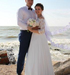 Итальянское свадебное платье Monica Loretti