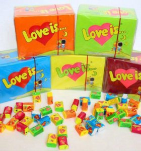 Коробка жвачек love is