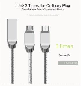 Usb кабель бронированный в мет оплетке