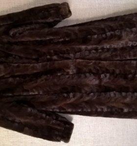 Шуба норковая коричневая