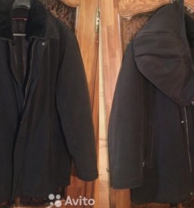 Мужская тёплая зимняя куртка