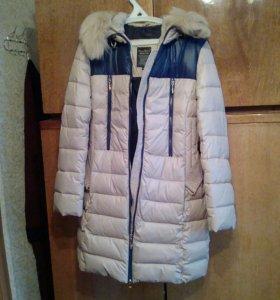 Зимний пуховик пальто размер 44-46