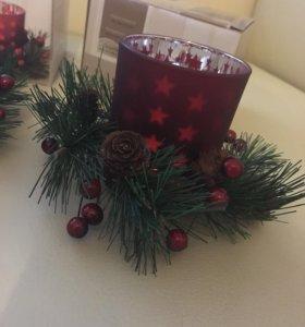 Новогоднее украшение 3 штуки