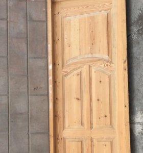 Дверь деревянная 2,35•0,81