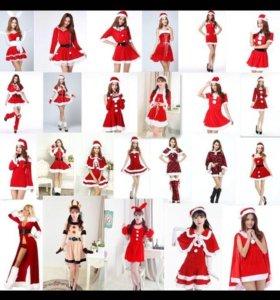 Новые костюмы новогодние снегурочки