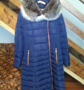 Пальто с волчьим мехом