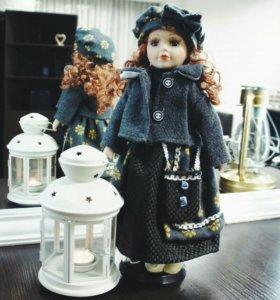 Кукла фарфоровая, подарочная. 40 см.