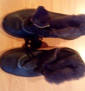 Чёрные зимние ботинки (для работы)