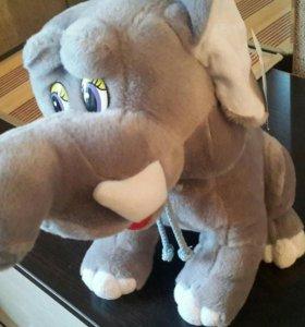 Слон плюшевый игрушка