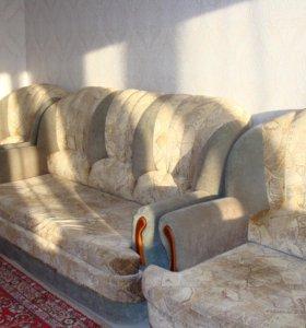 Продается комплект 3хмест диван, 2хмест + кресло