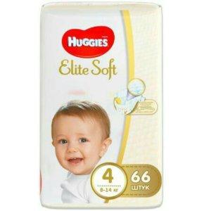 Huggis Elite Soft 4-66 шт