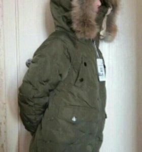 Новая зимняя куртка для девочки рост 150