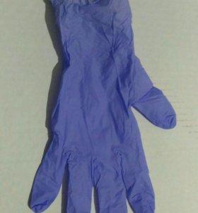 Перчатки смотровые нитриловые