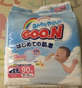 Подгузники Goon NB до 5 кг 90шт