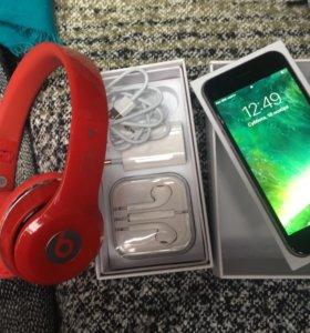 iPhone 6s 16gb + beats наушник
