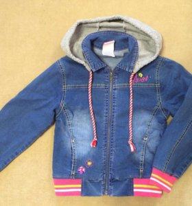 Джинсовые куртка и комбинезон