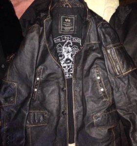 Пиджак кожаный Alpha