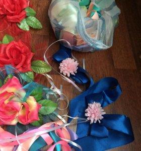 Свадебные цветочки для украшения машин
