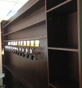 Барная стойка и фальш-панель для магазина пива