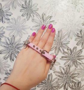 Ошейник розовый
