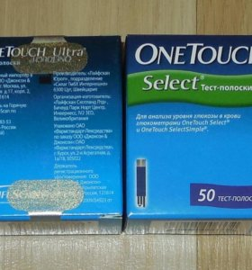 Тест полоски OneTouch Ultra и OneTouch Select