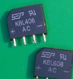 Диодные мосты KBL406 и KBL608 б/у