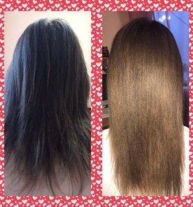 Кератиновое восстановление волос, ботокс для волос