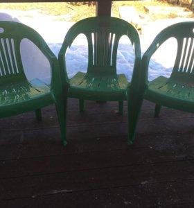 Кресла пластиковые стулья садовые