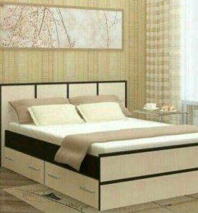 Кровать с ящиками,с матрасом. 140/200.