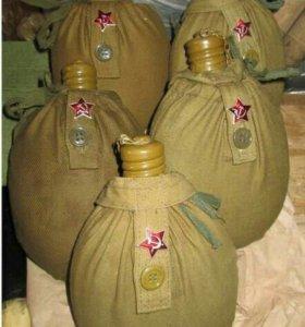 Солдатская фляжка в чехлн