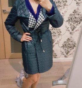 Пальто+шапка с шарфом
