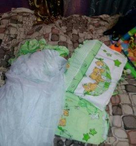 Борта в кроватку с балдахином