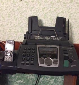 Компактный факс с беспроводной трубкой