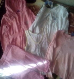 пакет вещей на девочку 120-130 см
