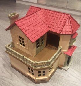 Большой дом со светом Sylvian Families + мебель