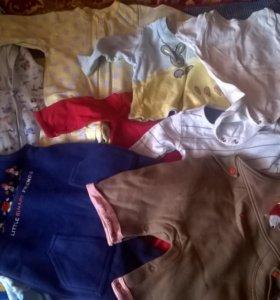 пакет вещей на ребенка 62-80 см