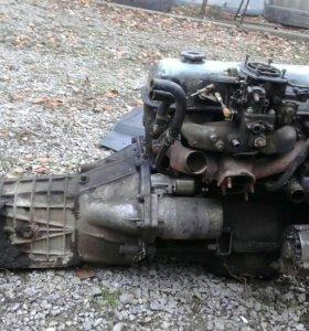 Двигатель с коробкой.Ваз