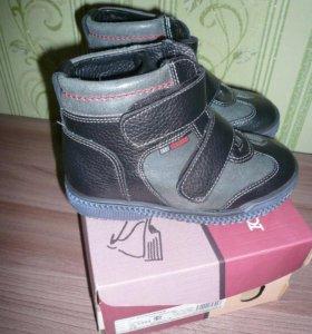 Зимние ботинки натур. кожа+ натур. мех 28 р.новые
