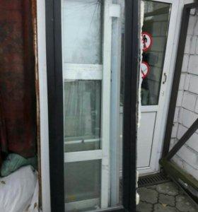 Двери ПВХ низкие 200/74 коричневые