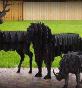 Мангалы в виде животных