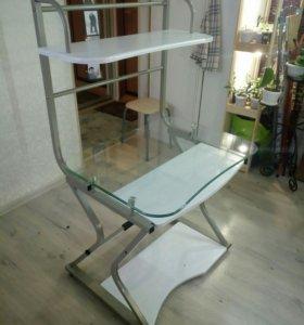 Стол компьютерный стеклянный