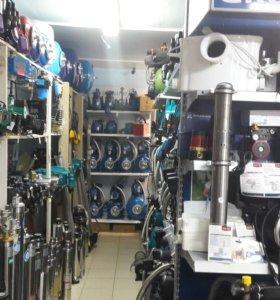 Насос,катлы,водонагреватели,радиаторы
