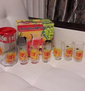 Набор кувшин и 6 стаканов