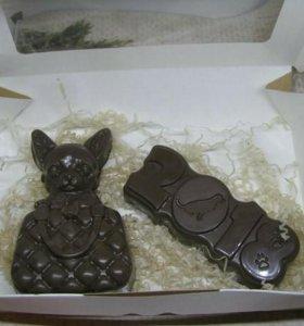 Набор из шоколадной глазури на год Собаки