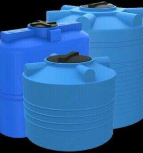 Пластиковые емкости,бочки,резервуары.